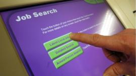 Job search machine at the Job centre