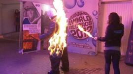 A Man on fire