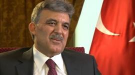 The Turkish President, Abdullah Gul