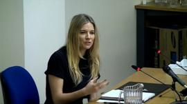Sienna Miller at the Media Ethics Enquiry