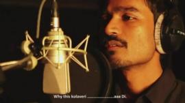 Tamil actor Dhanush singing his