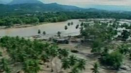 Aerial views of flooding in the Philippines