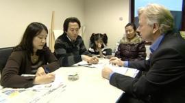 BBC's Humphrey Hawksley talks to a North Korean family