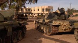 Tanks used during the Libya civil war