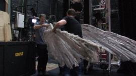 Moving the Nutcracker goose
