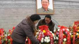Flowers for Kim Jong-il