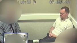 Gary Dobson during a police interview