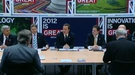 A cabinet meeting was held in the Olympics handball arena