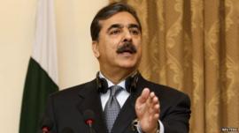 Prime Minister Yusuf Raza Gilani
