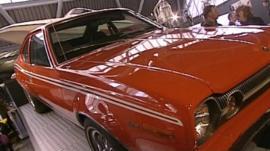 A classic James Bond car
