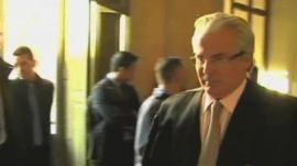 Judge Baltasar Garzon arrives at court