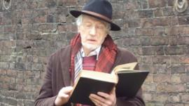 Actor Edward Petherbridge reading Dickens