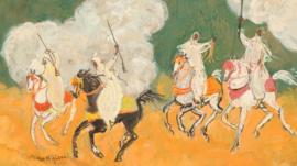 Painting 'Les feux du Quadrige' by Hassan El Glaoui