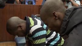 Mziwamadoda Qwabe and Xolile Mngeni in court
