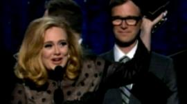 Adele at the Grammy Awards ceremony