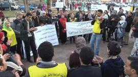 A small protest in Morocco