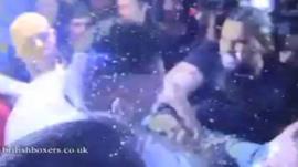The fighers brawl