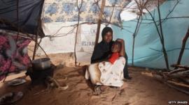 Somali woman in Kenya