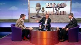 Lord Oakeshott, Andrew Neil and Philip Davies