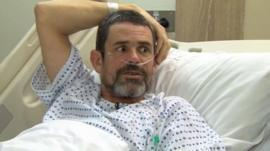 Paul Conroy speaks in hospital to Newsnight's Gavin Esler.