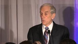Republican candidate Ron Paul