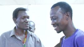 Actors from the South Sudanese Theatre Company rehearsing