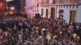 Hundreds celebrate the coming of the Pope in Guanajuato