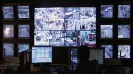 CCTV monitoring room
