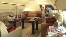 Inside a private jet