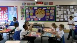 Primary school classroom