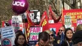 Teachers on strike