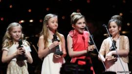 Sophia Kiely, Kerry Ingram, Eleanor Worthington Cox and Cleo Demetriou