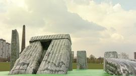 Inflatable Stonehenge
