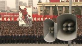 People gathered in North Korea