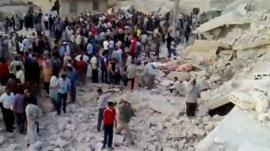 Hama blast site