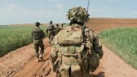Troops in Helmand, Afghanistan
