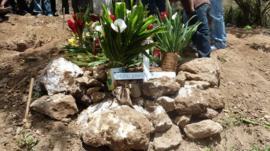 A grave in Honduras
