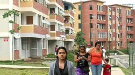 Residents in Ciudad Cariba