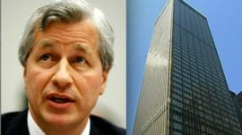 Jamie Dimon and JPMorgan Chase building