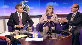 Mark Harper, Margaret Curran and Nick Robinson