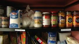 Donations to a food bank
