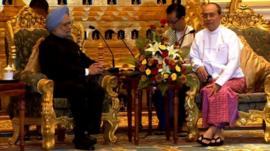 Manmohan Singh and Thein Sein
