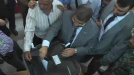 Muslim Brotherhood candidate Mohamed Moorsi
