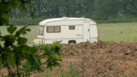Caravan at site