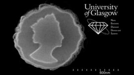 Nano coin marking the Queen's Diamond Jubilee