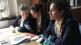 The School Reporters get their hands on the objects
