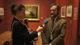 Anoushka interviewing at the British Museum