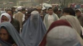Afghans in a market.