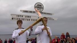 Olympic torch at John O'Groats