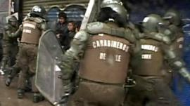 Chilean police clash with protesters